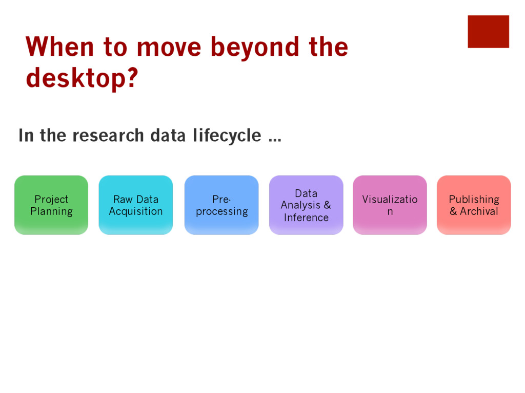 When to move beyond the desktop? Project Planni...