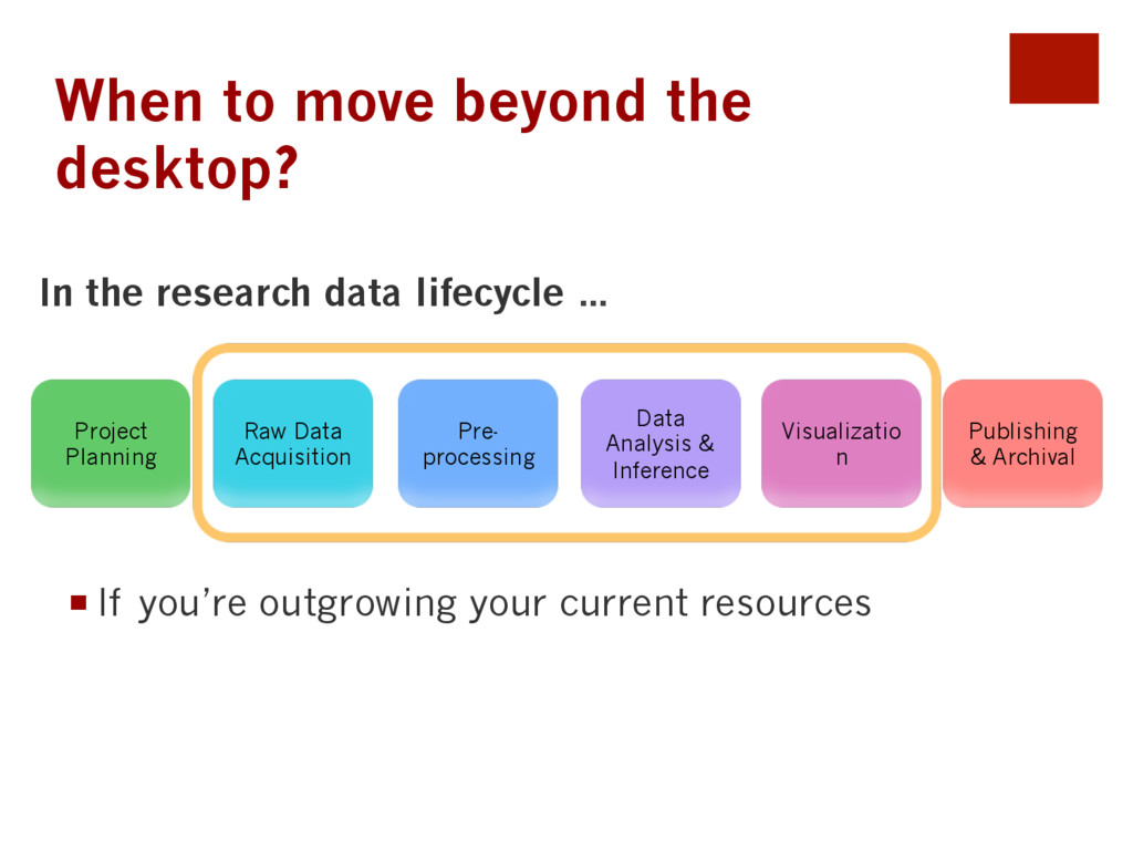 When to move beyond the desktop? ¡If you're o...