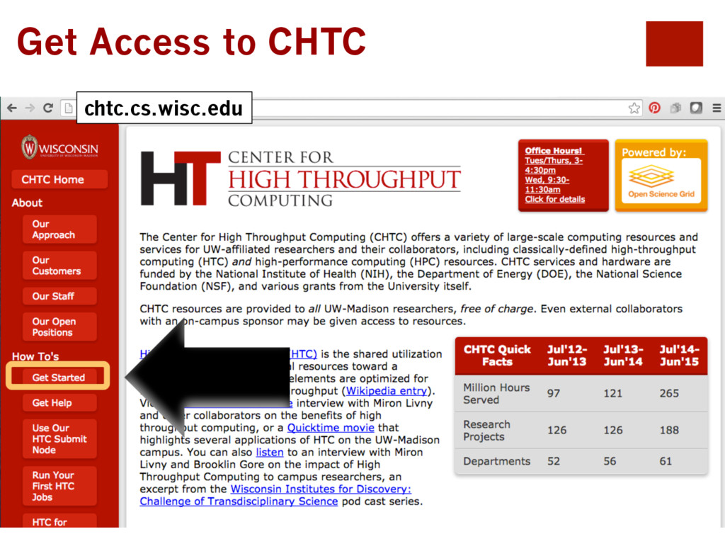 chtc.cs.wisc.edu Get Access to CHTC
