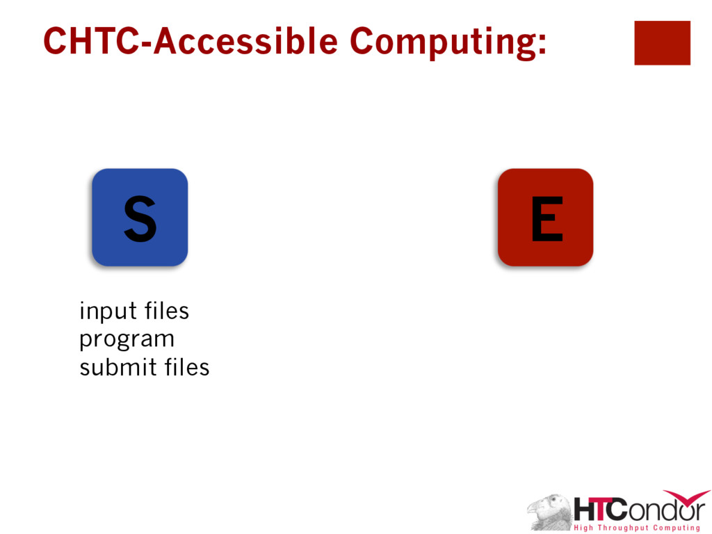CHTC-Accessible Computing: S E input files prog...