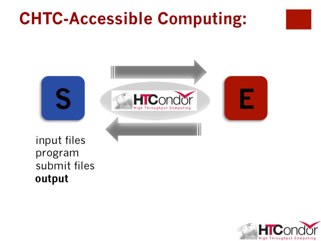 CHTC-Accessible Computing: S E HTCondor input f...