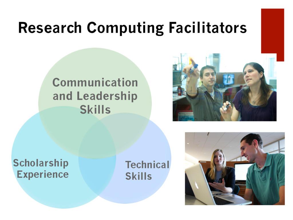 Research Computing Facilitators Scholarship Exp...