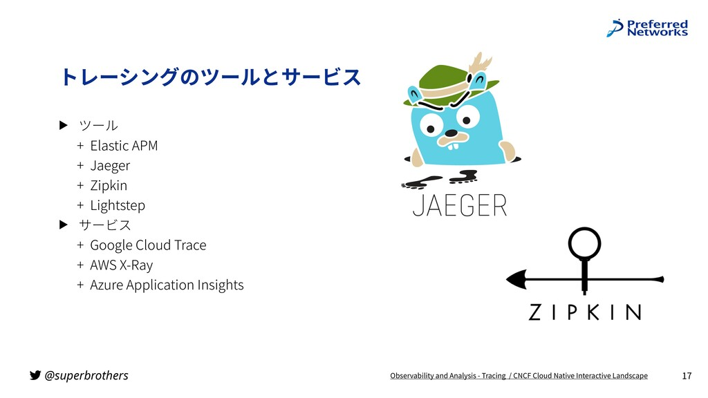@superbrothers ▶ ツール + Elastic APM + Jaeger + Z...
