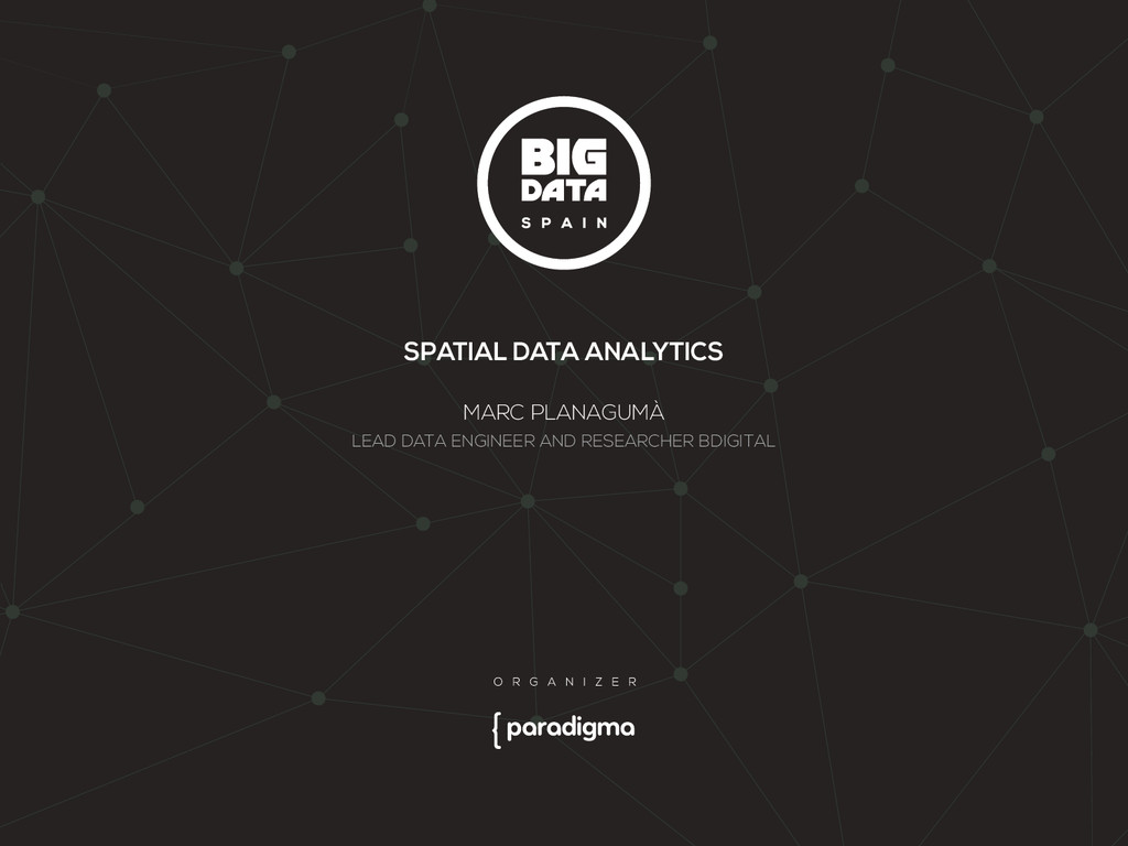 SPATIAL DATA ANALYTICS MARC PLANAGUMÀ LEAD DATA...