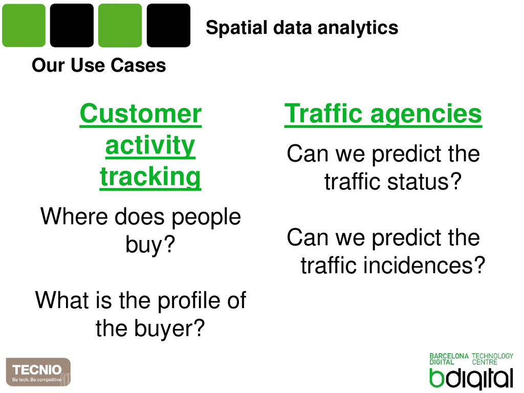 Our Use Cases Customer activity tracking Where ...
