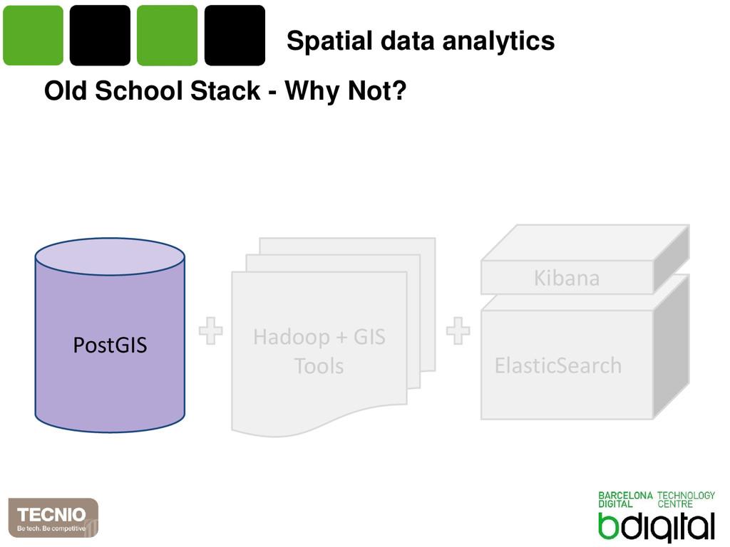 Old School Stack - Why Not? PostGIS Hadoop + GI...