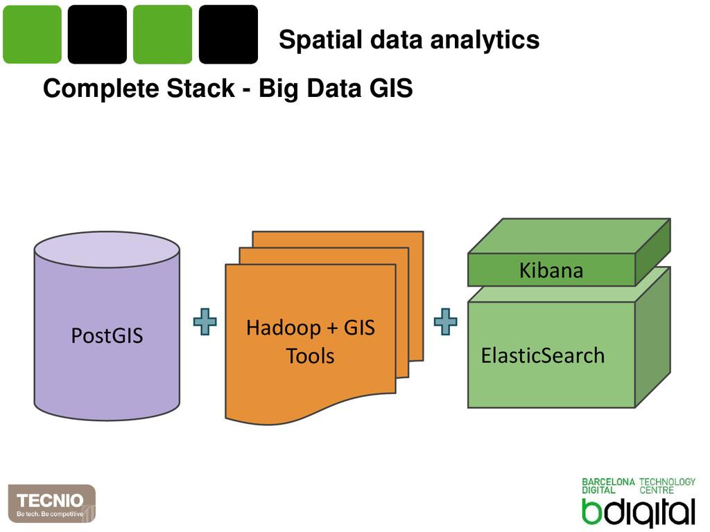 Complete Stack - Big Data GIS PostGIS Hadoop + ...