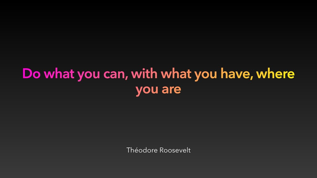 Théodore Roosevelt Do what you can, with what y...