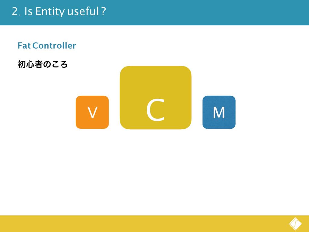 V C M Fat Controller ॳ৺ऀͷ͜Ζ 2. Is Entity useful...
