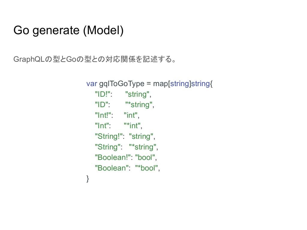 Go generate (Model) var gqlToGoType = map[strin...