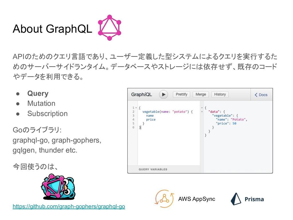 About GraphQL APIのためのクエリ言語であり、ユーザー定義した型システムによるク...