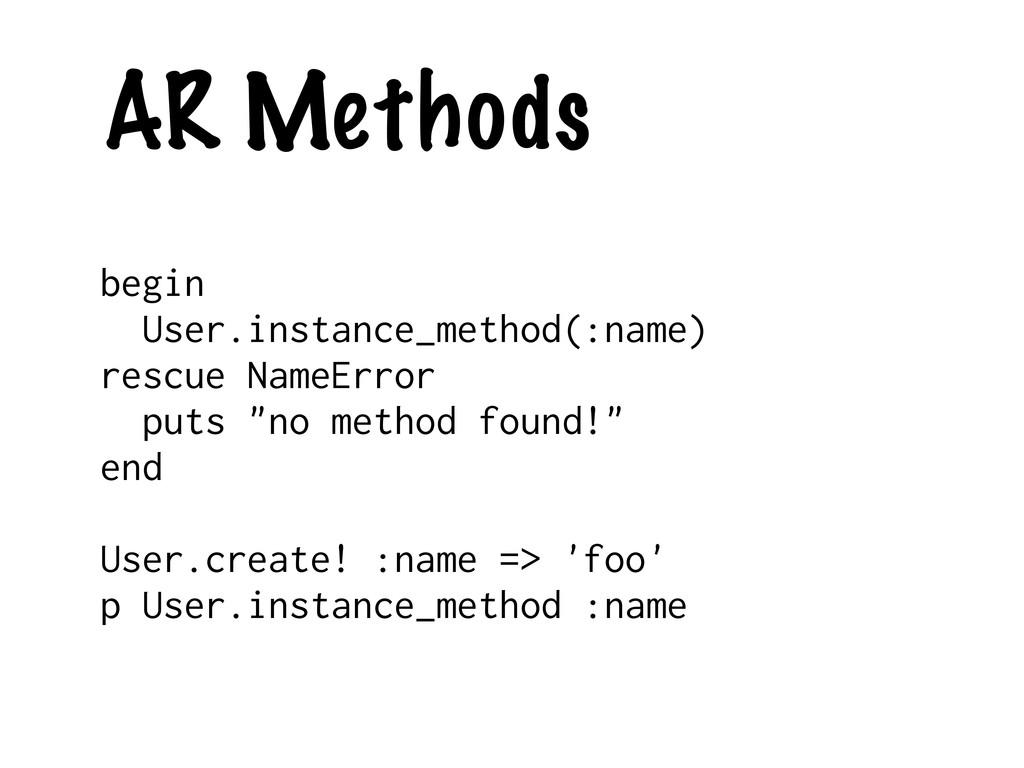 AR Methods begin User.instance_method(:name) re...