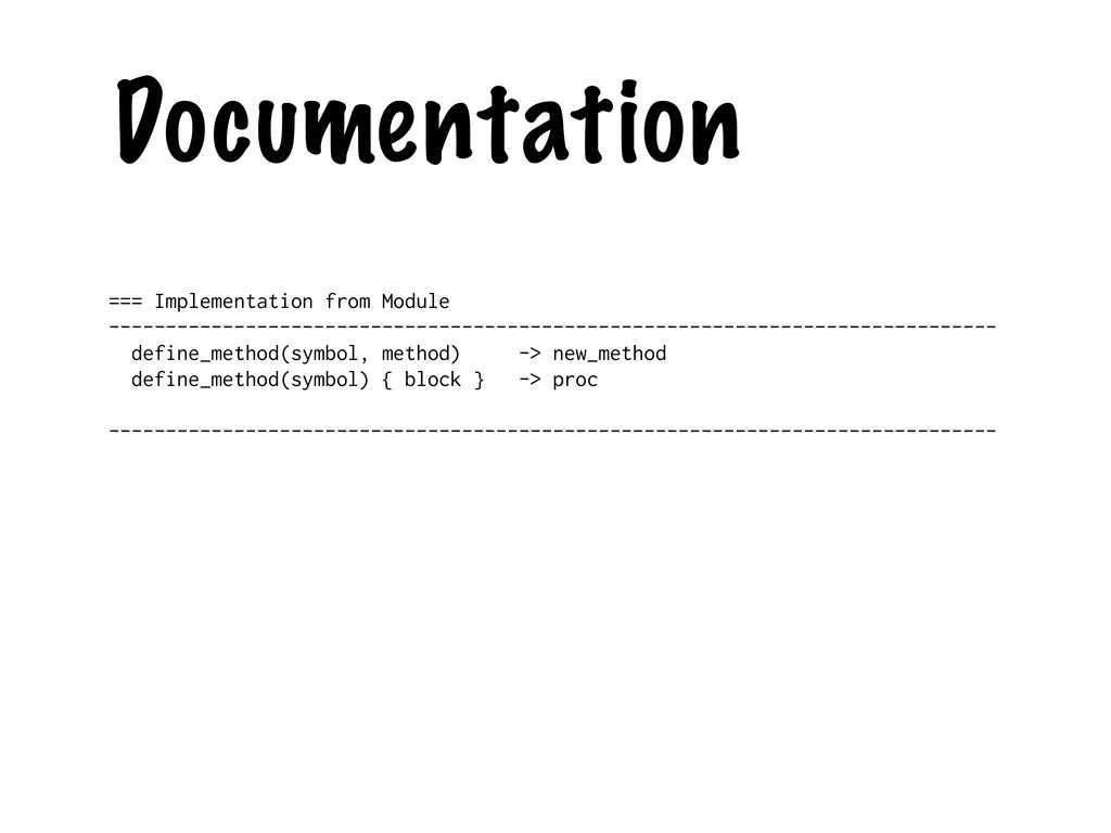 Documentation === Implementation from Module --...