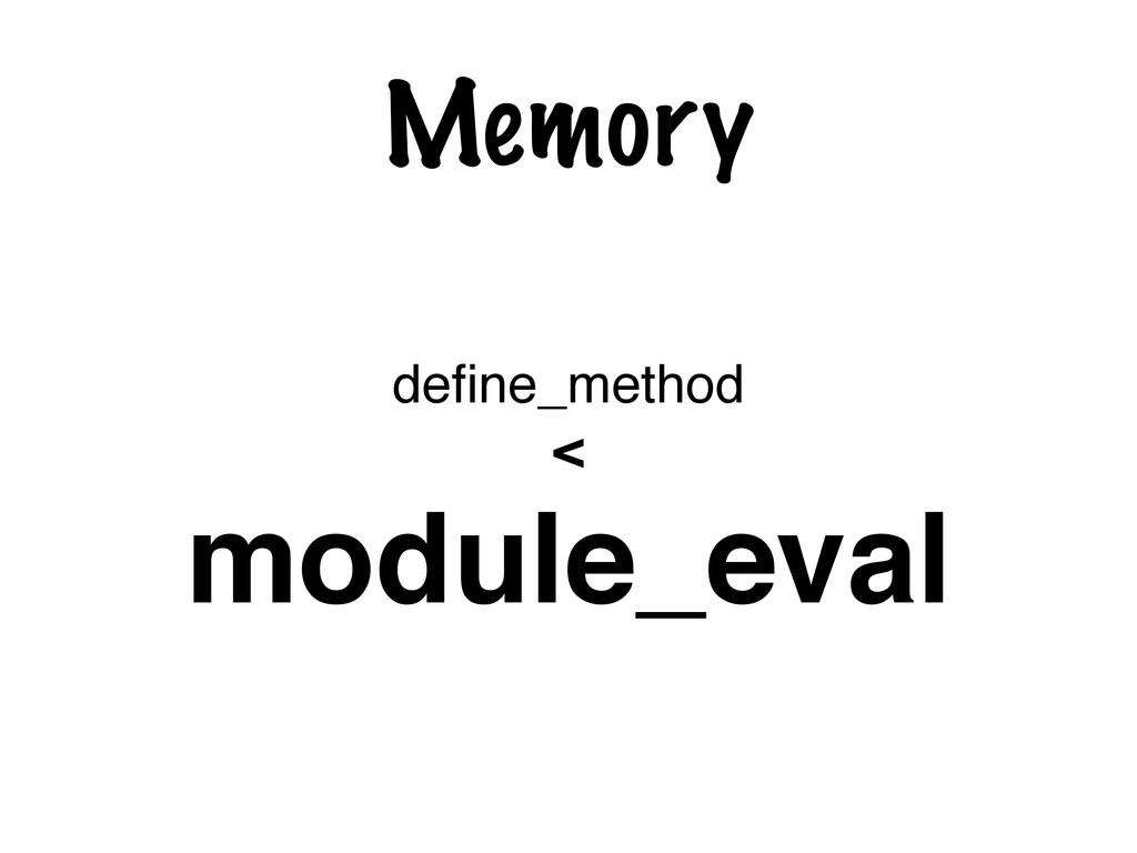 Memory define_method < module_eval