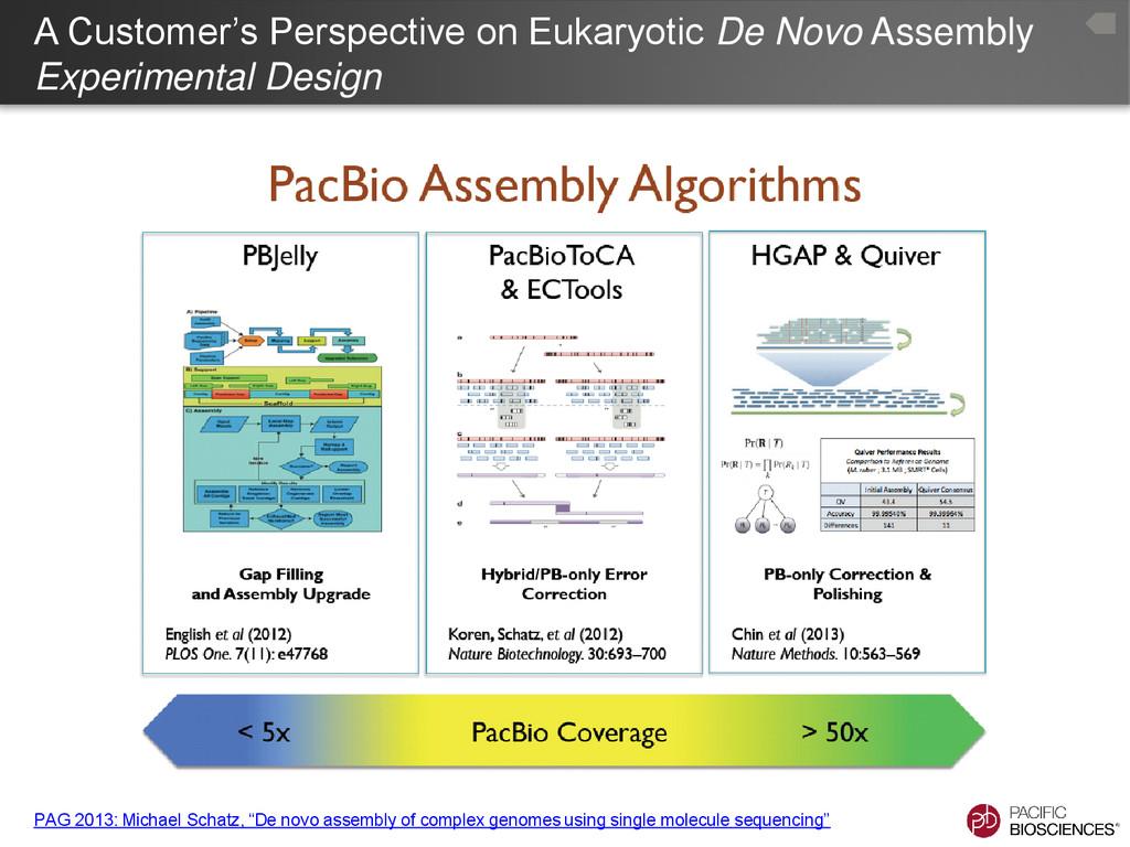 A Customer's Perspective on Eukaryotic De Novo ...