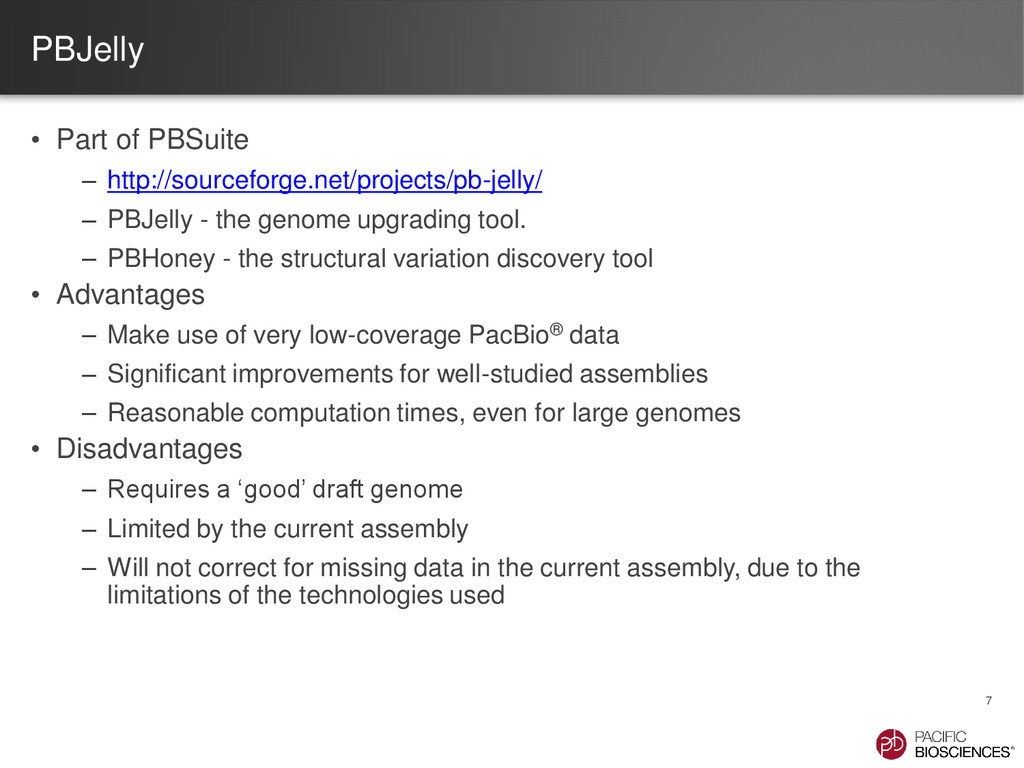 PBJelly • Part of PBSuite – http://sourceforge....