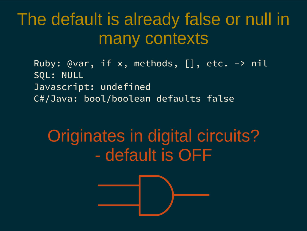 The default is already false or null in many co...
