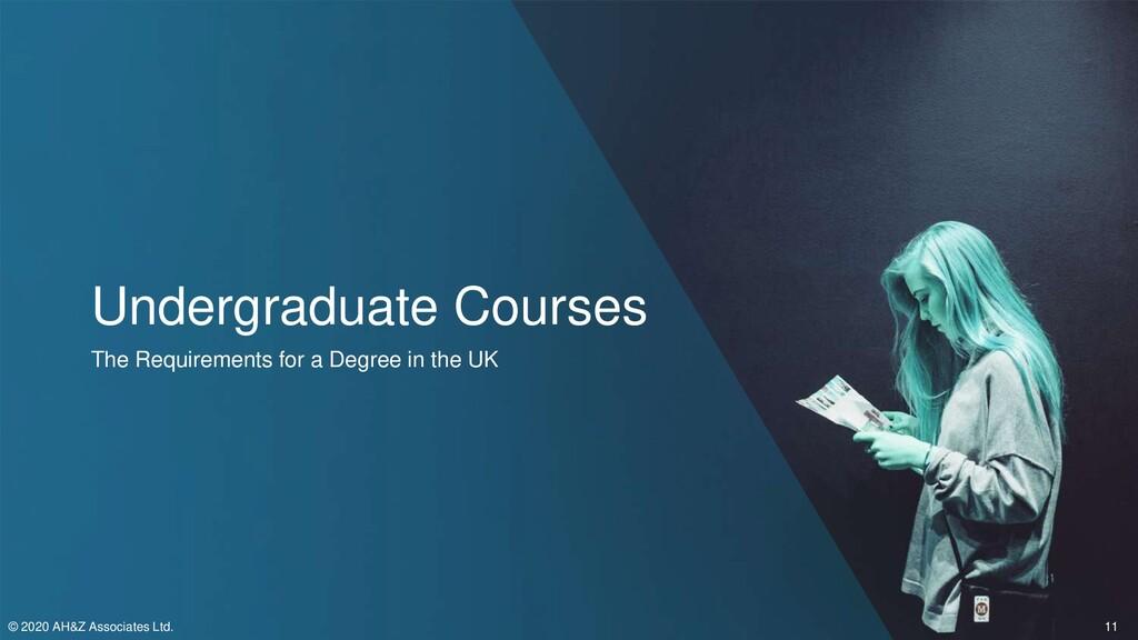 Undergraduate Courses The Requirements for a De...