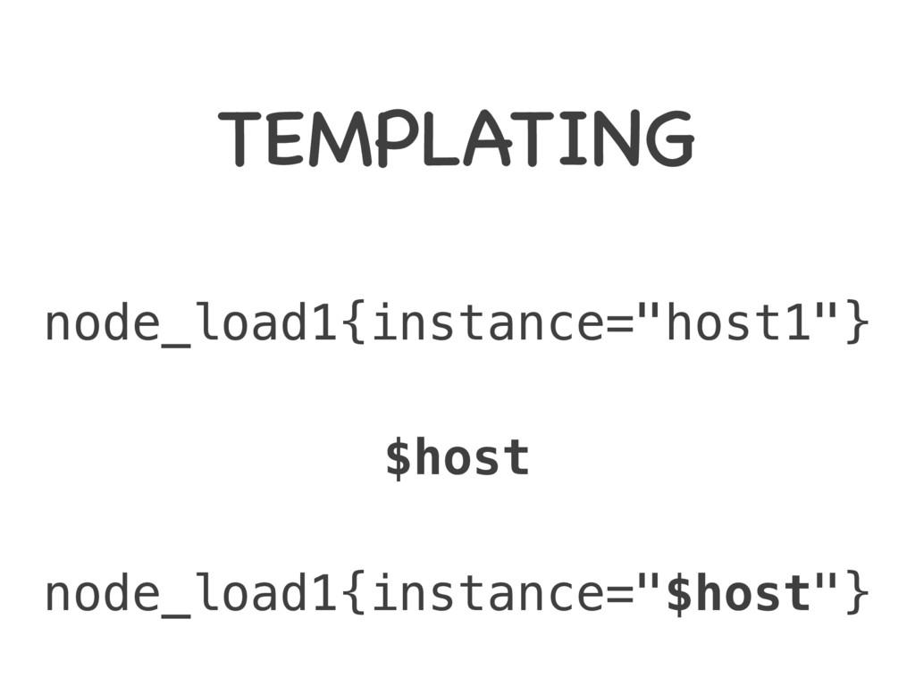 """TEMPLATING node_load1{instance=""""host1""""} node_lo..."""