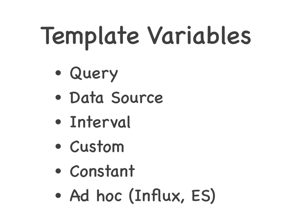 Template Variables • Query • Data Source • Inte...
