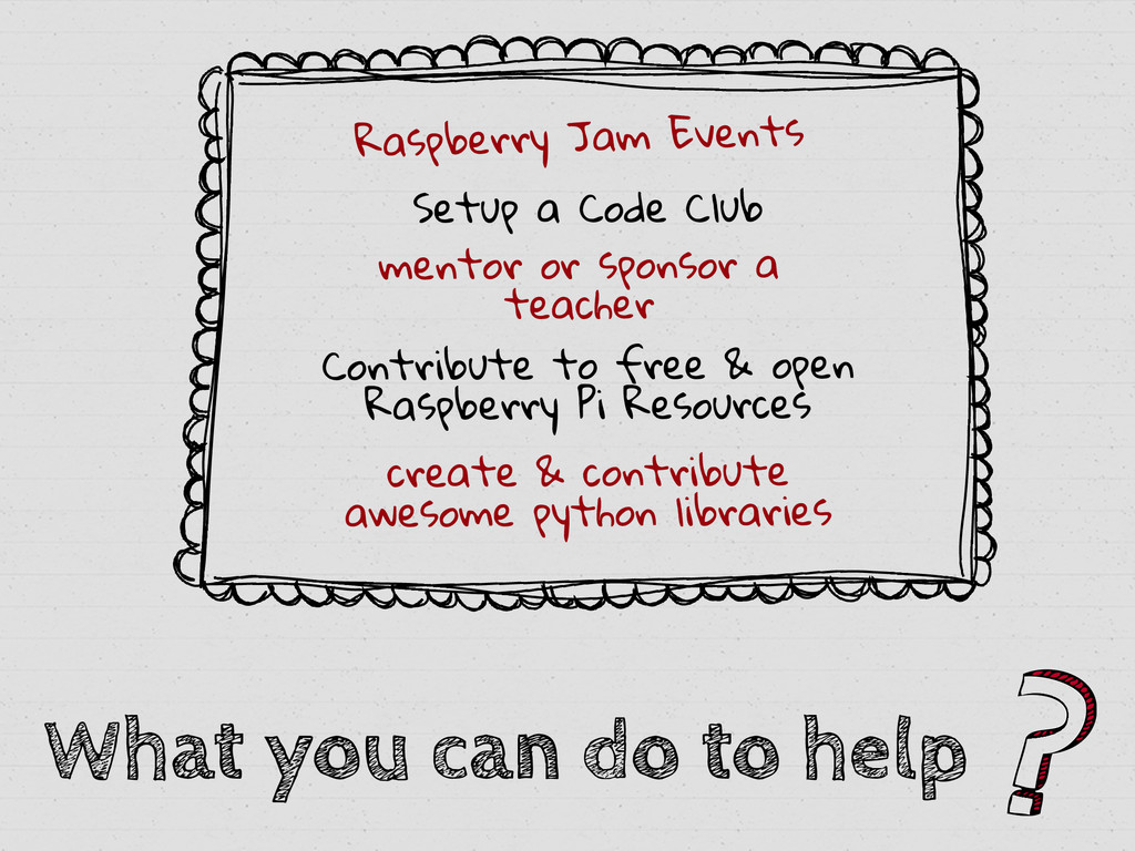 What you can do to help Raspberry Jam Events Se...
