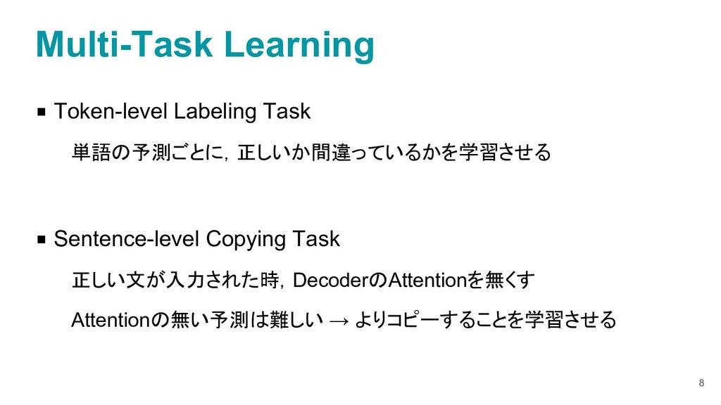 ◾ Token-level Labeling Task 単語の予測ごとに,正しいか間違っている...