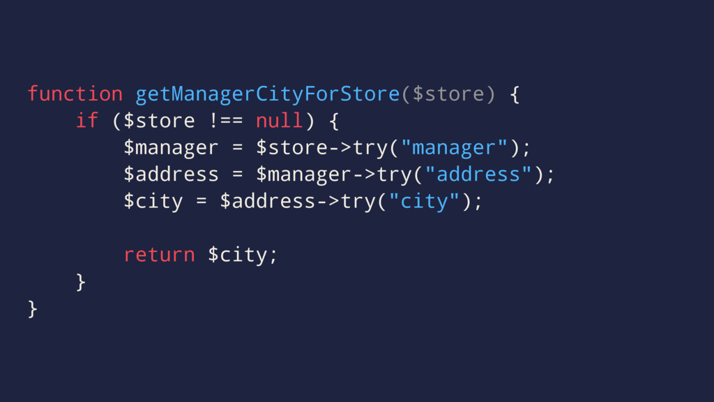 function getManagerCityForStore($store) { if ($...