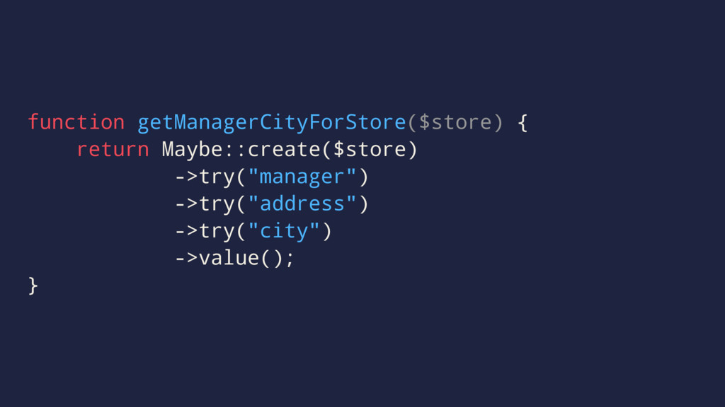 function getManagerCityForStore($store) { retur...