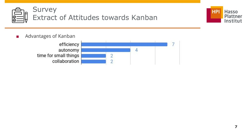 Survey Extract of Attitudes towards Kanban 7 ■ ...