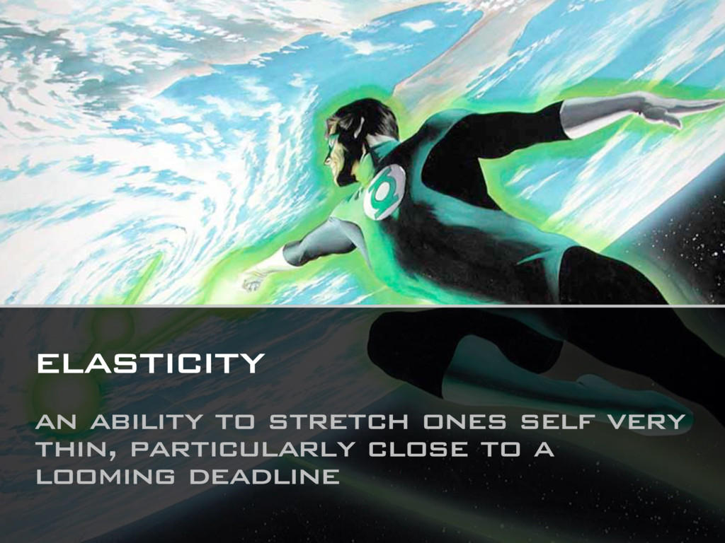 elasticity an ability to stretch ones self very...