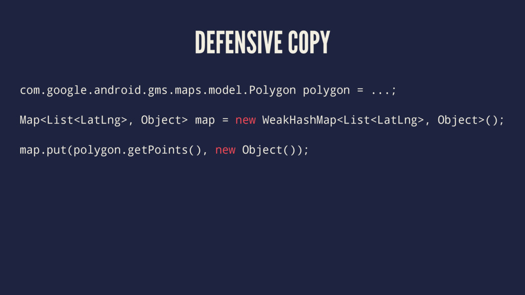 DEFENSIVE COPY com.google.android.gms.maps.mode...