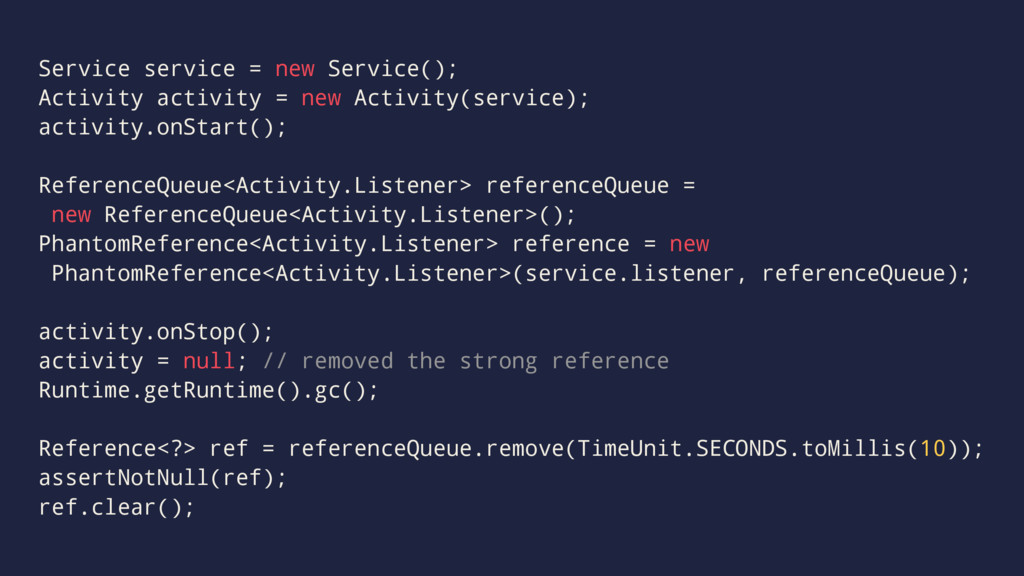 Service service = new Service(); Activity activ...