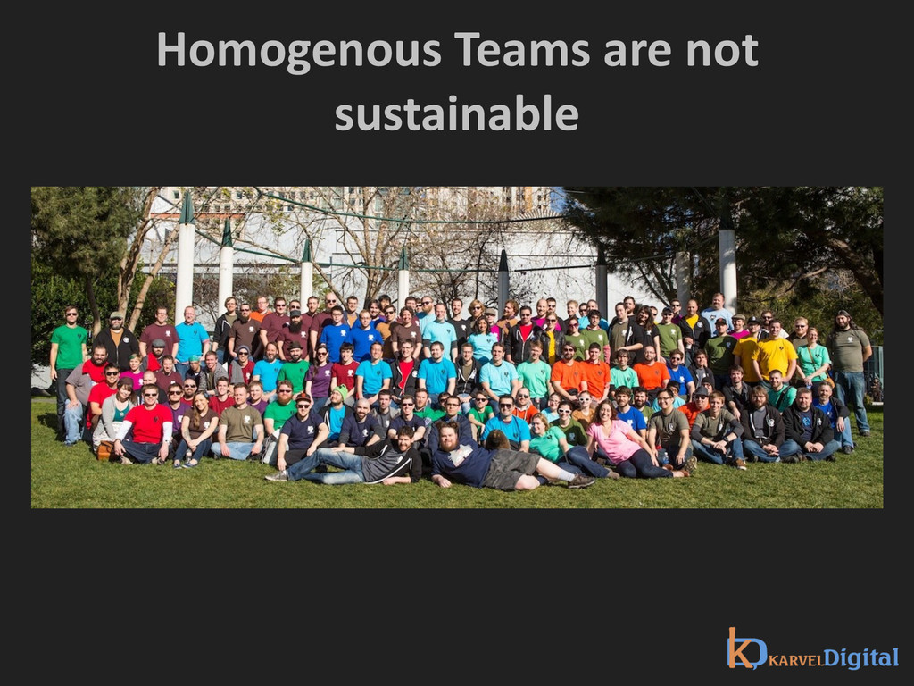 Homogenous Teams are not  sustainab...