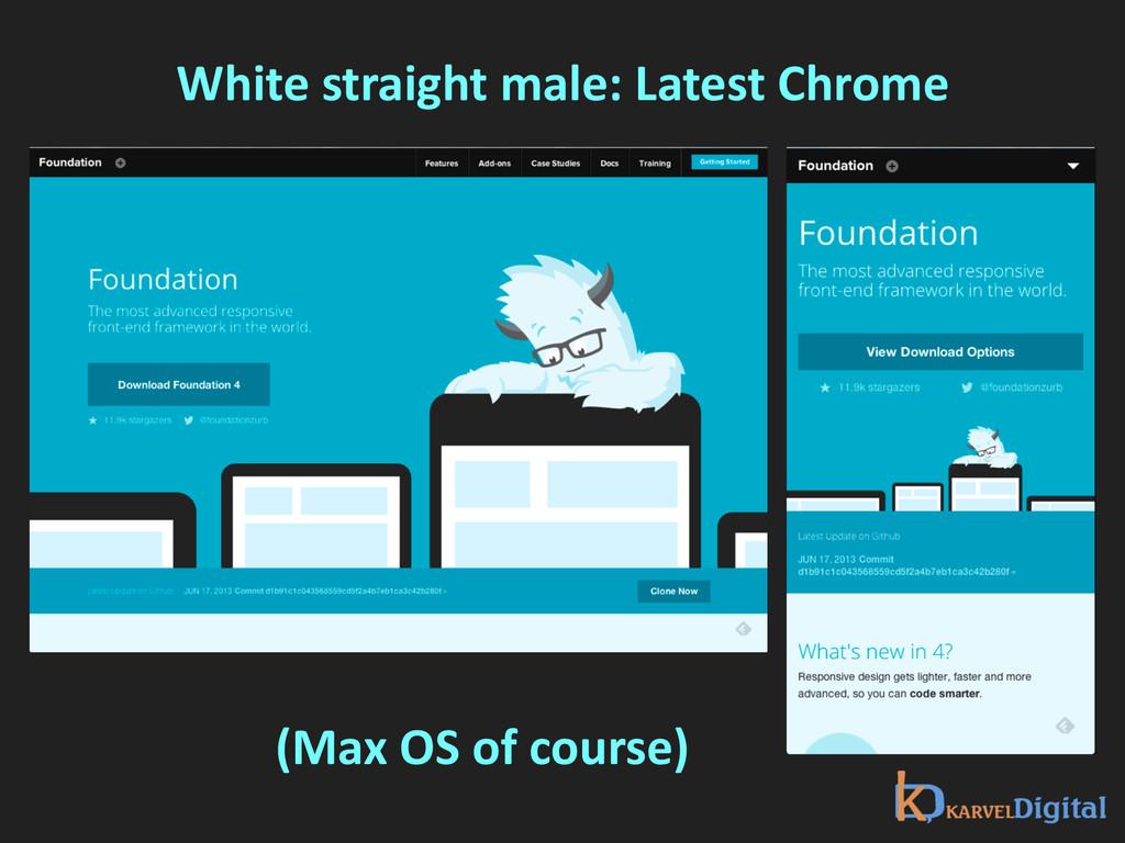 White straight male: Latest Chrome ...