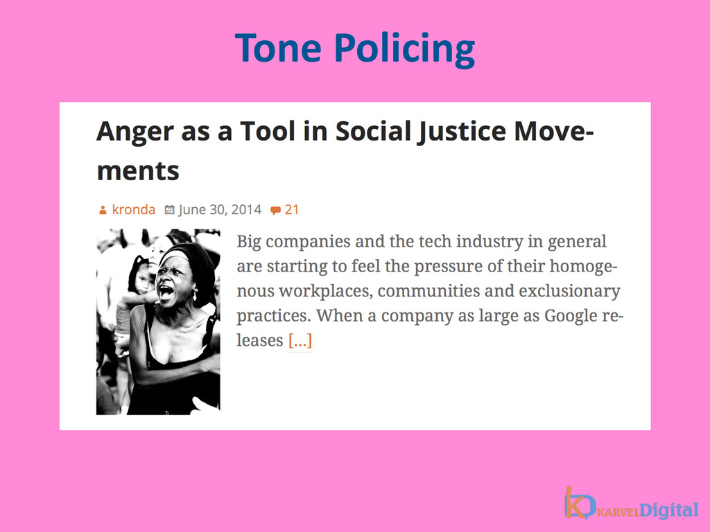 Tone Policing