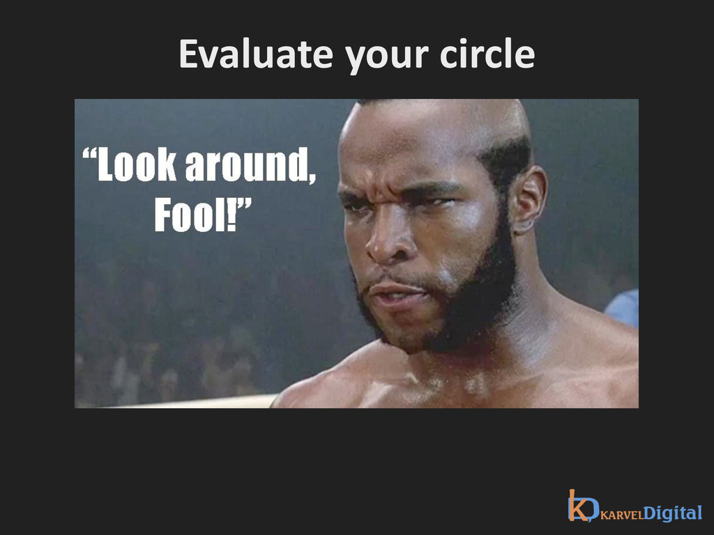 Evaluate your circle