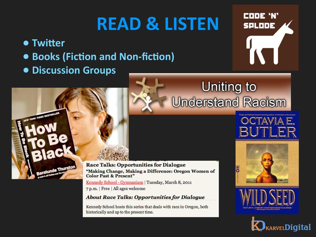 READ & LISTEN • TwiNer  • Books...