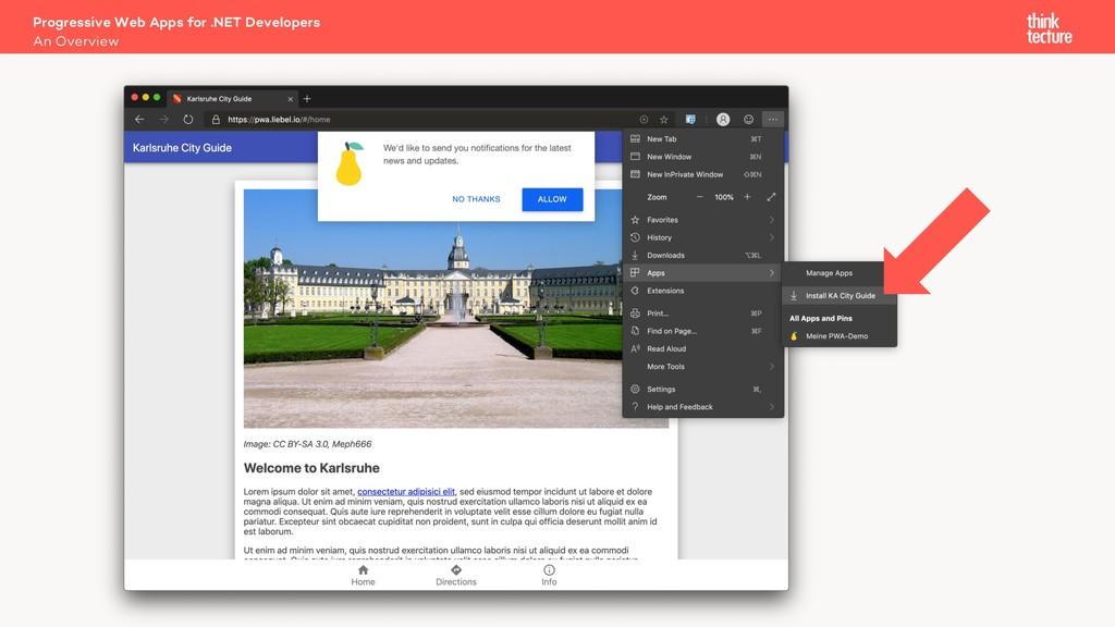An Overview Progressive Web Apps for .NET Devel...