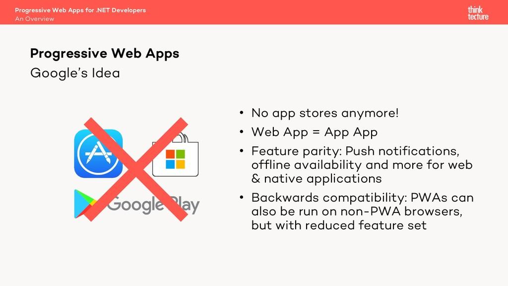 Google's Idea • No app stores anymore! • Web Ap...