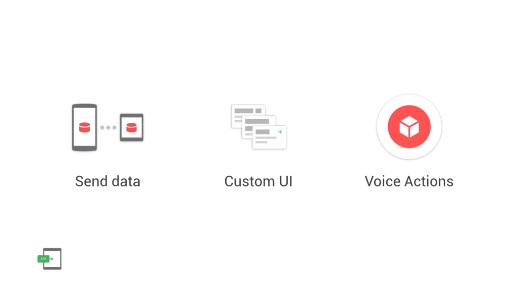 Send data Custom UI Voice Actions