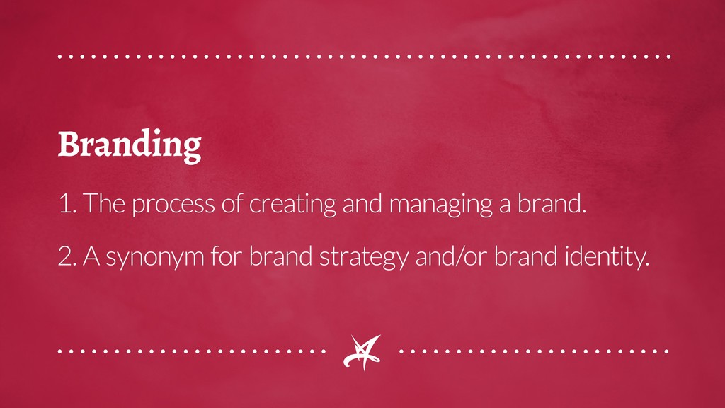 Branding 1. The process of creating and managin...