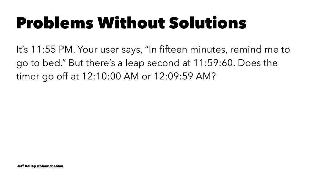 Problems Without Solutions It's 11:55 PM. Your ...