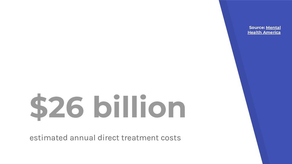 $26 billion estimated annual direct treatment c...