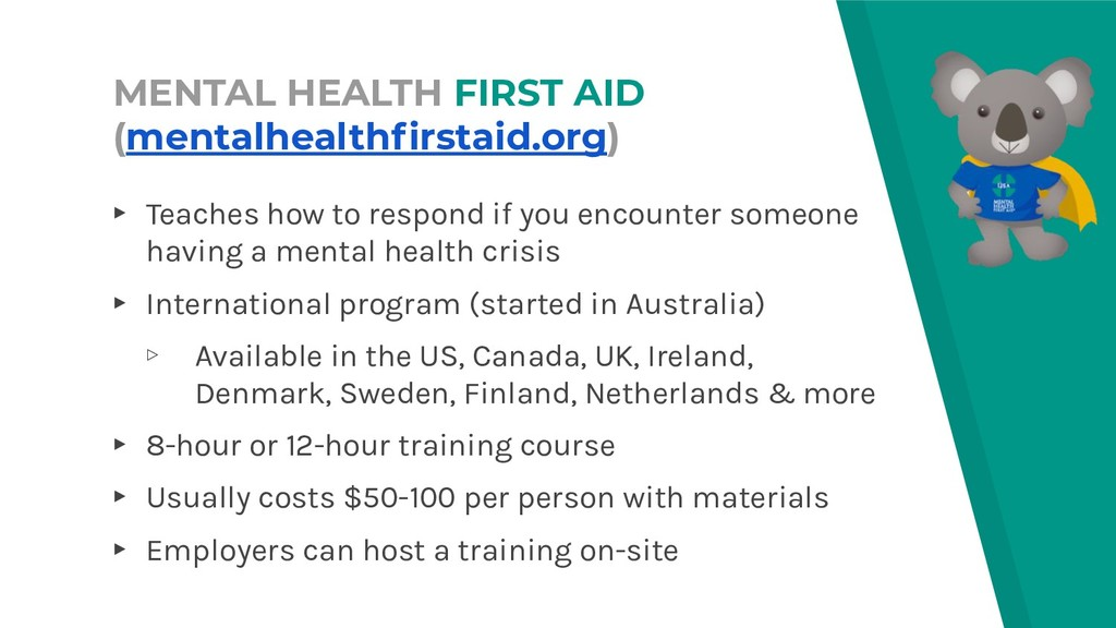 MENTAL HEALTH FIRST AID (mentalhealthfirstaid.or...