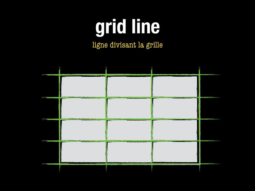 grid line ligne divisant la grille