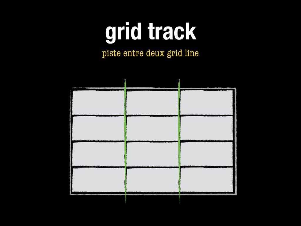 grid track piste entre deux grid line