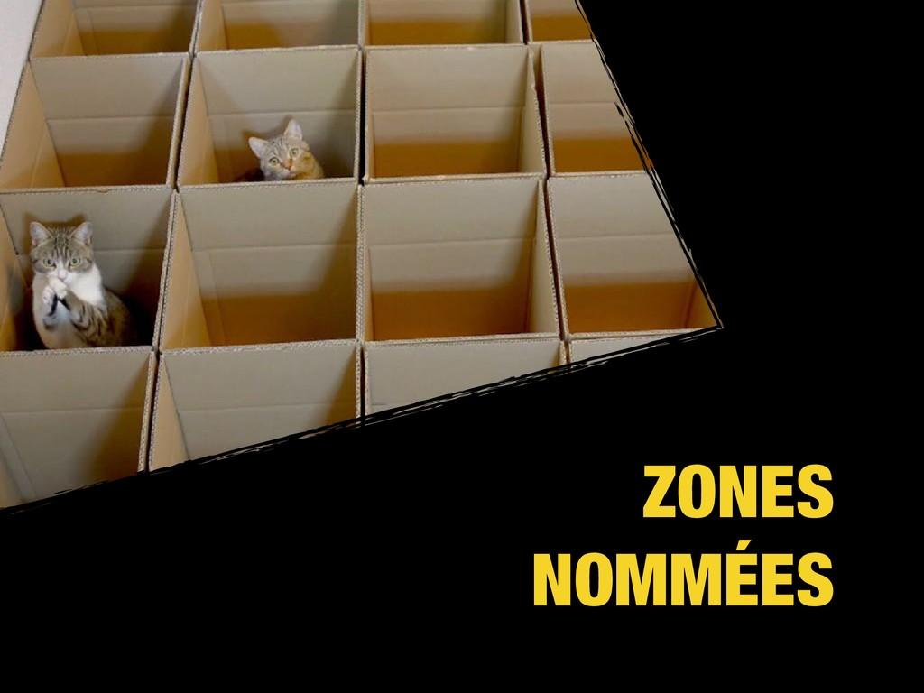 ZONES NOMMÉES