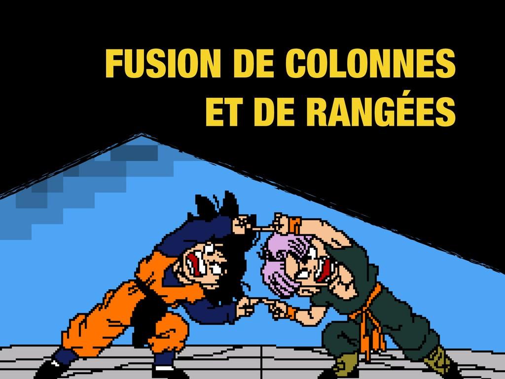 FUSION DE COLONNES ET DE RANGÉES