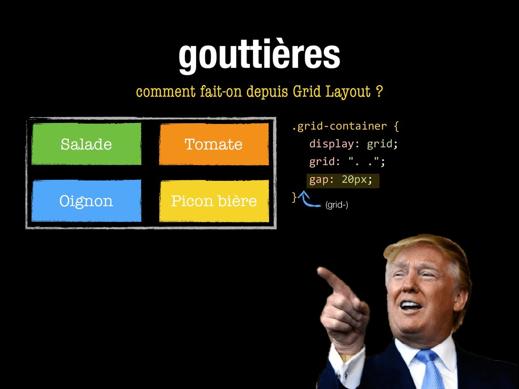 gouttières comment fait-on depuis Grid Layout ?...