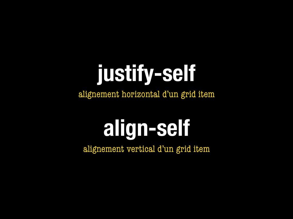 justify-self alignement horizontal d'un grid it...